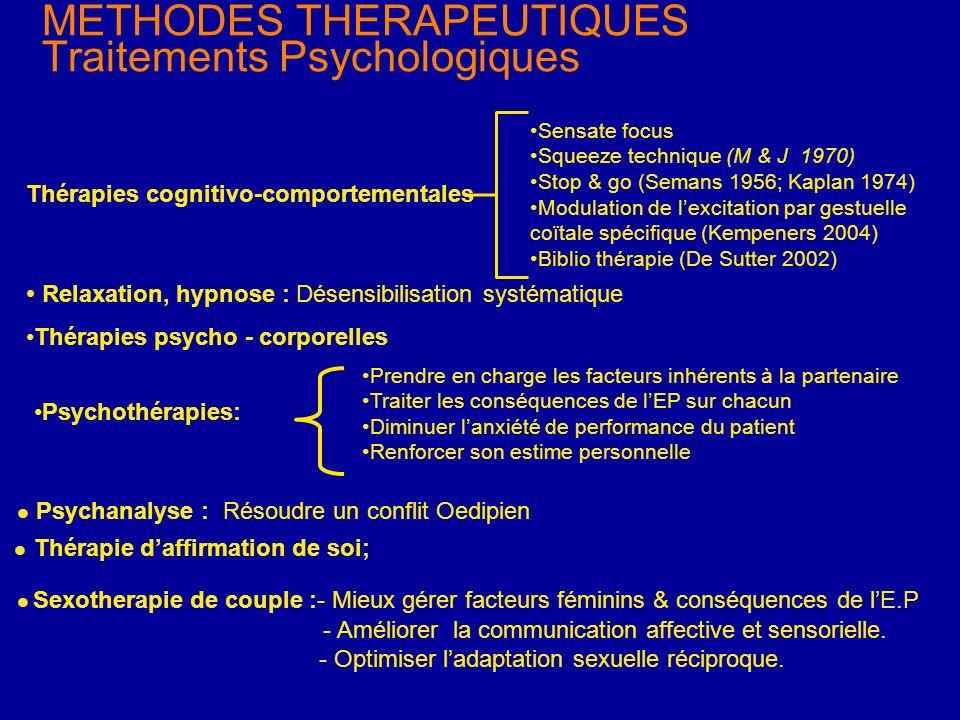 METHODES THERAPEUTIQUES Traitements Psychologiques