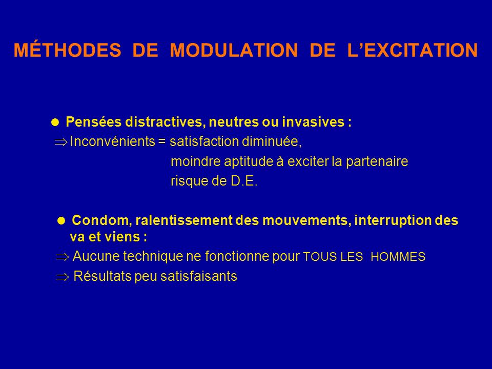 MÉTHODES DE MODULATION DE L'EXCITATION