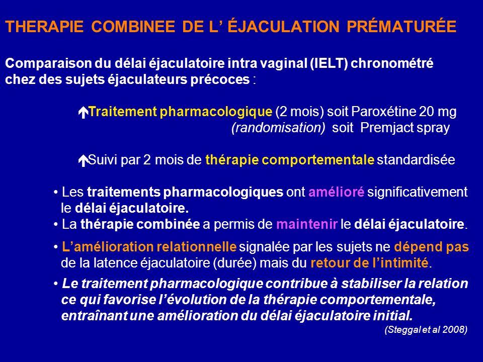 THERAPIE COMBINEE DE L' ÉJACULATION PRÉMATURÉE