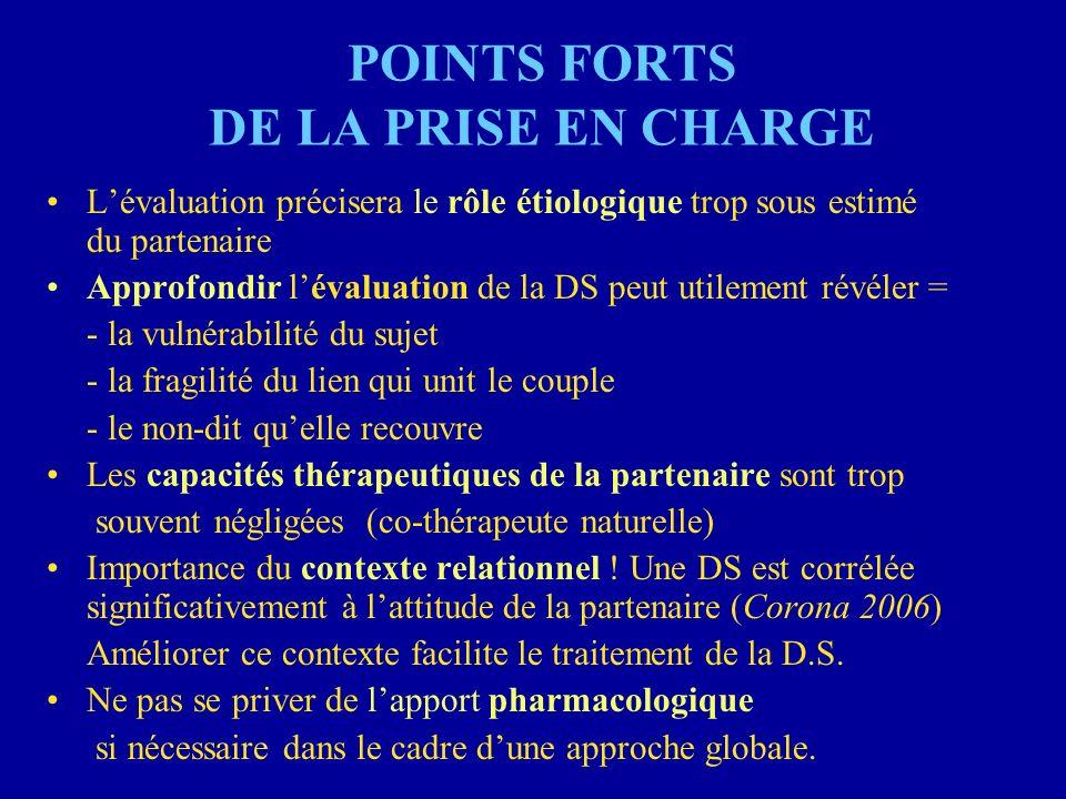 POINTS FORTS DE LA PRISE EN CHARGE