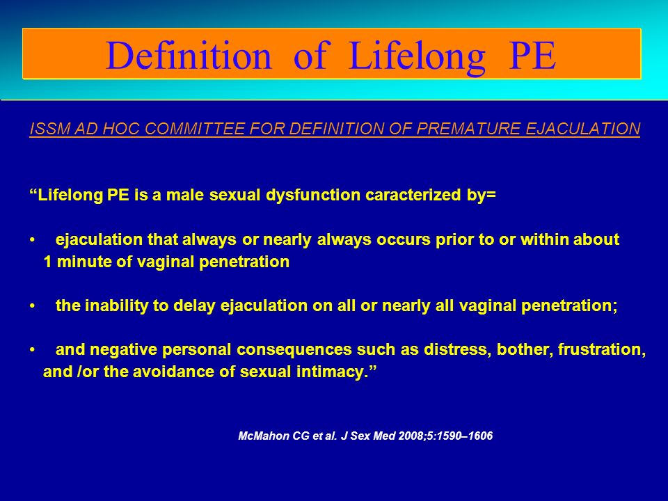 Definition of Lifelong PE