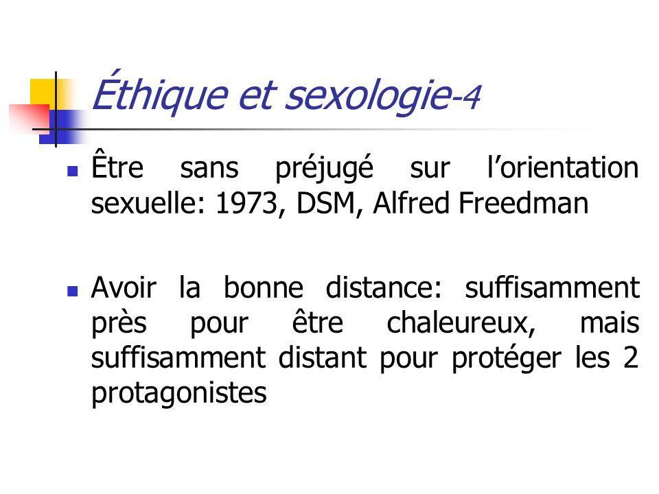 Éthique et sexologie-4 Être sans préjugé sur l'orientation sexuelle: 1973, DSM, Alfred Freedman.