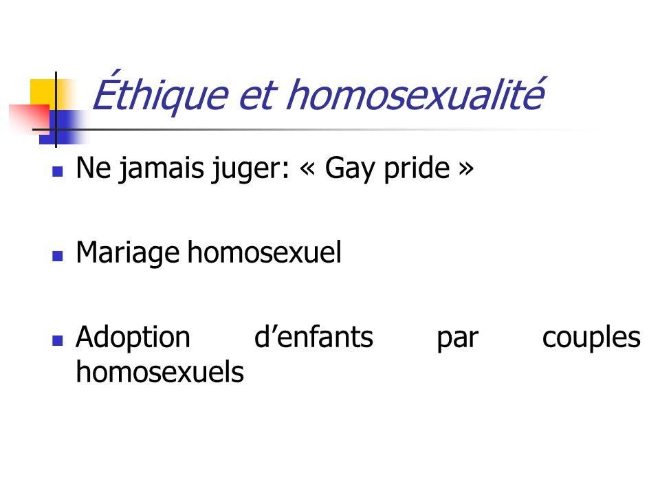 Éthique et homosexualité