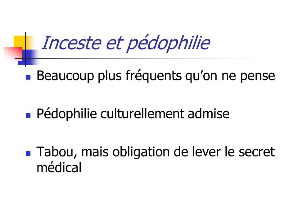 Inceste et pédophilie Beaucoup plus fréquents qu'on ne pense