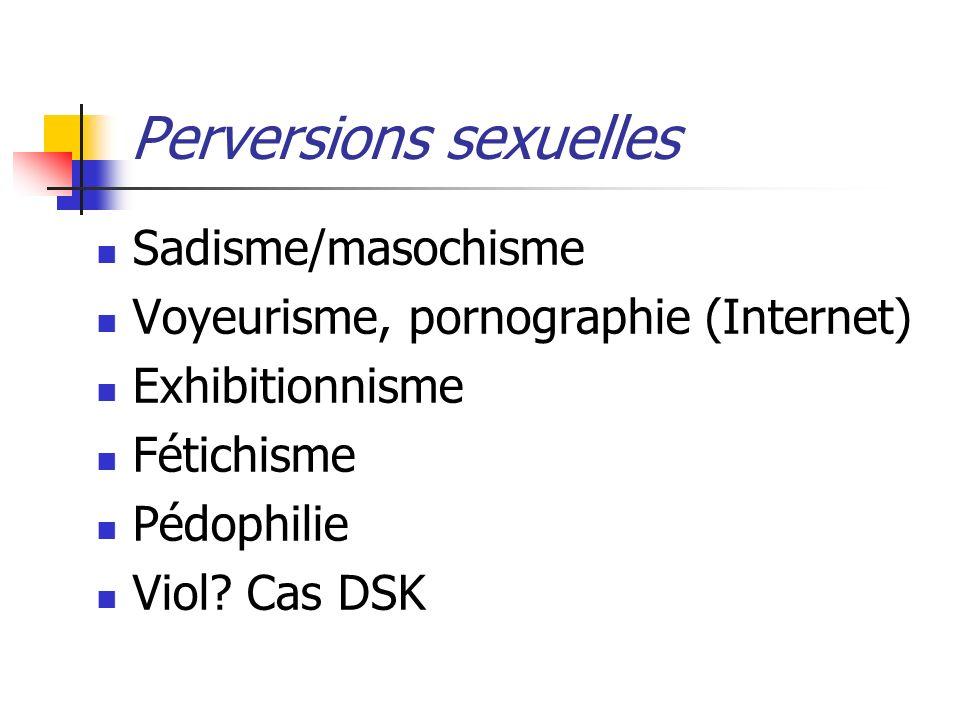 Perversions sexuelles