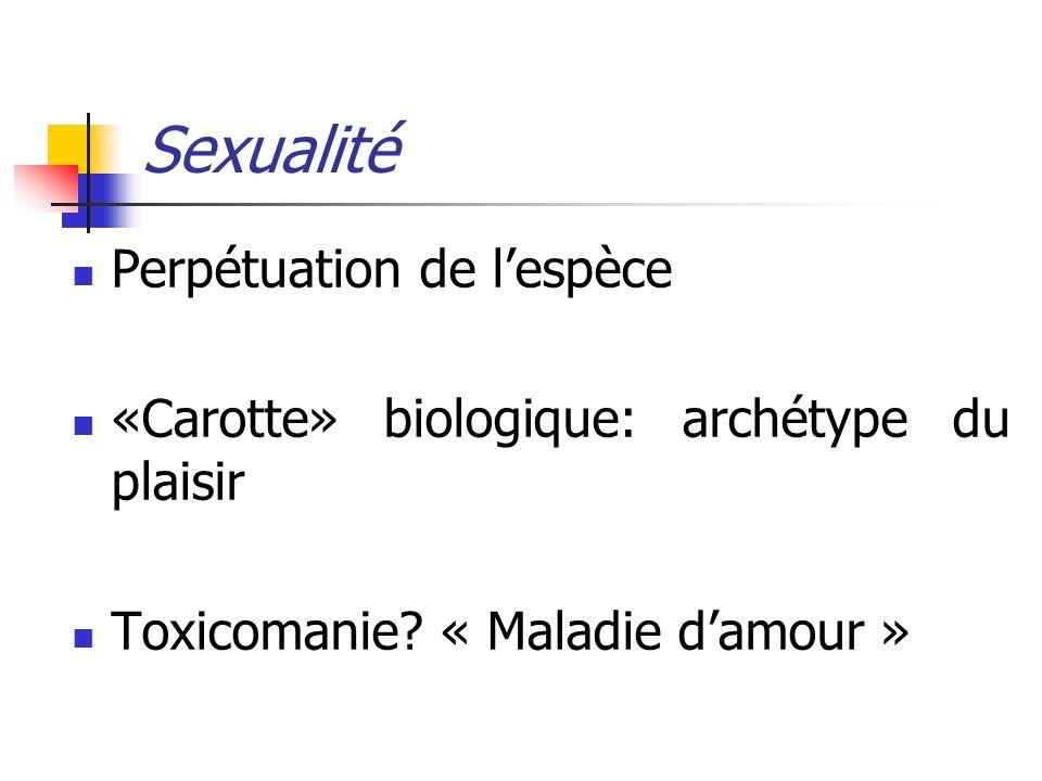 Sexualité Perpétuation de l'espèce