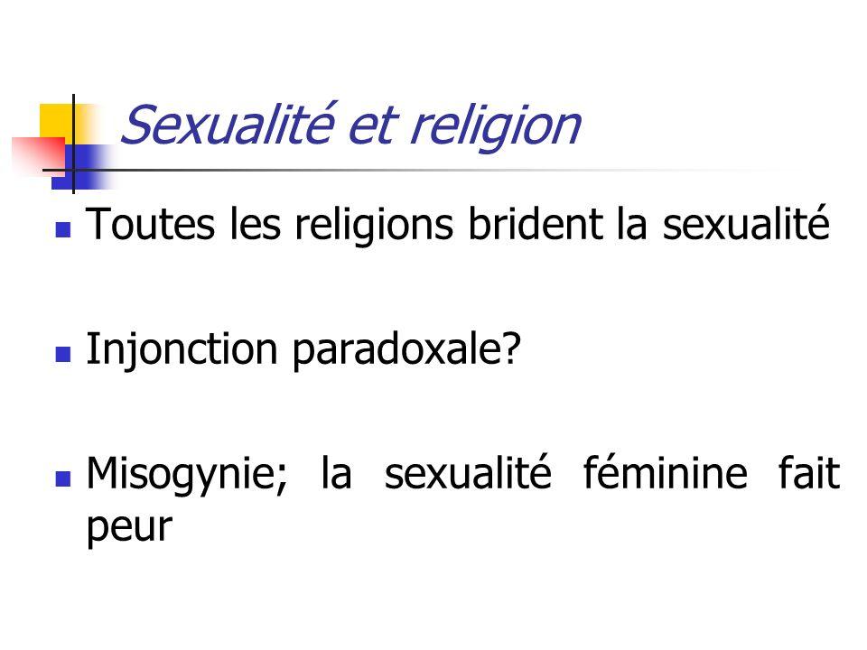 Sexualité et religion Toutes les religions brident la sexualité
