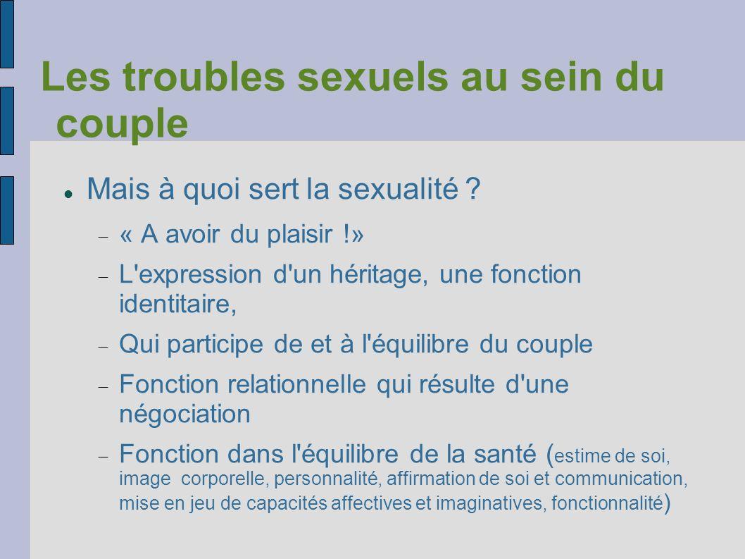 Les troubles sexuels au sein du couple
