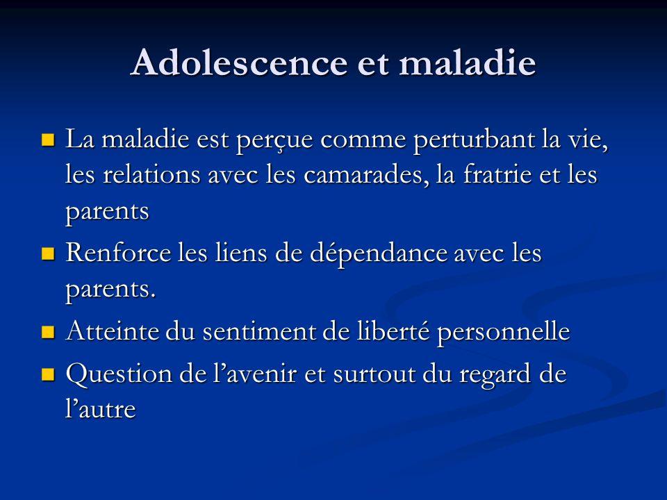 Adolescence et maladie