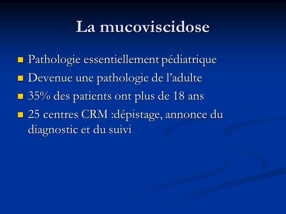 La mucoviscidose Pathologie essentiellement pédiatrique