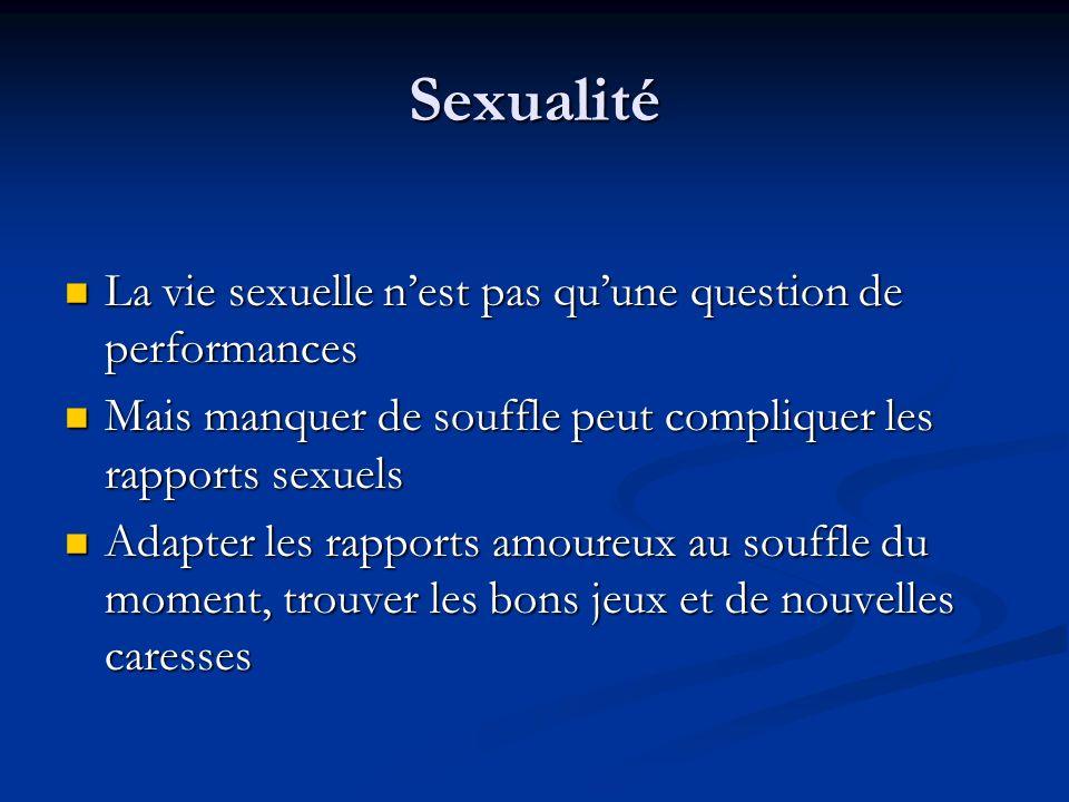 Sexualité La vie sexuelle n'est pas qu'une question de performances