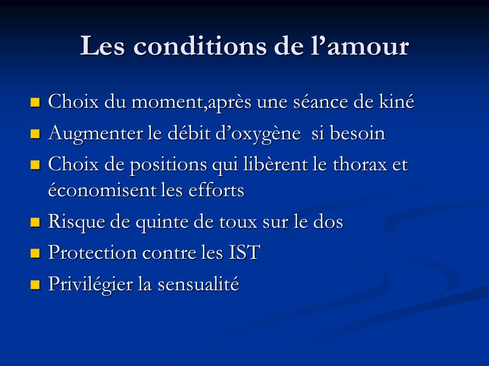 Les conditions de l'amour