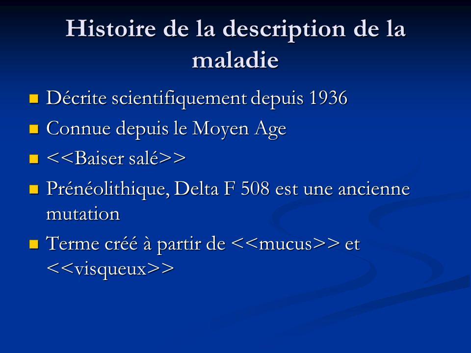 Histoire de la description de la maladie