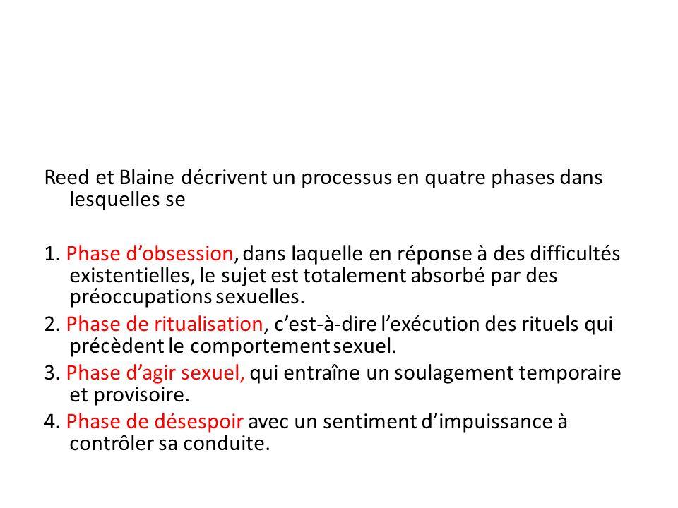 Reed et Blaine décrivent un processus en quatre phases dans lesquelles se