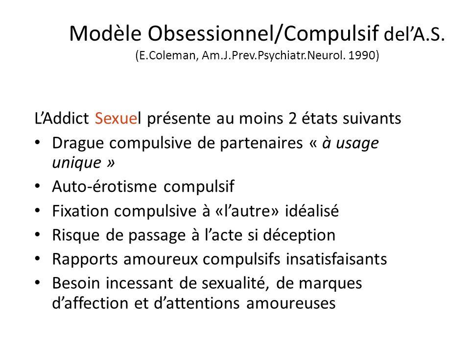 Modèle Obsessionnel/Compulsif del'A. S. (E. Coleman, Am. J. Prev