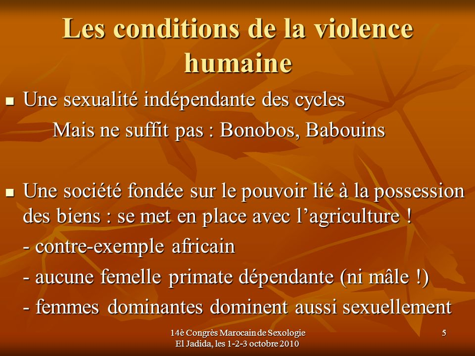 Les conditions de la violence humaine