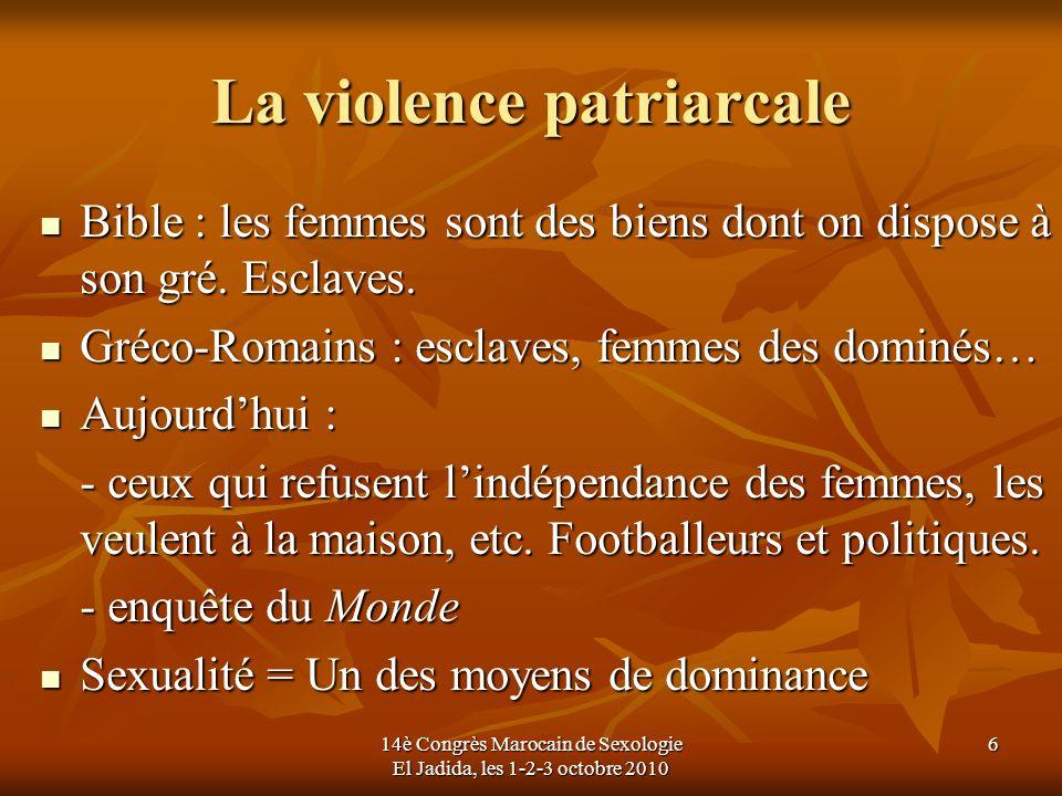 La violence patriarcale