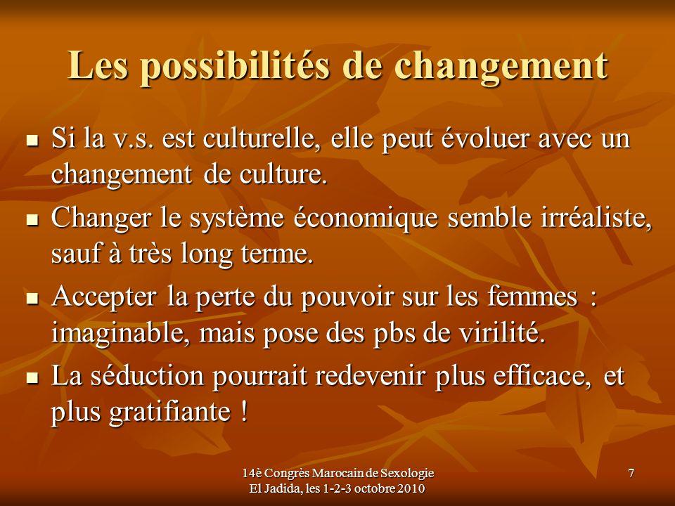 Les possibilités de changement