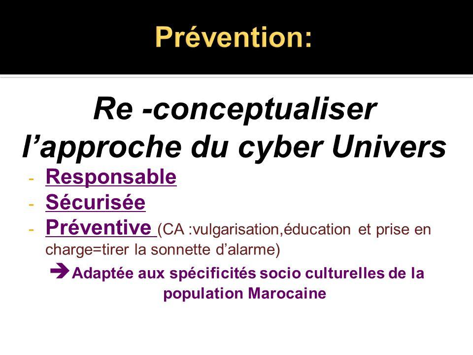 Prévention: Re -conceptualiser l'approche du cyber Univers