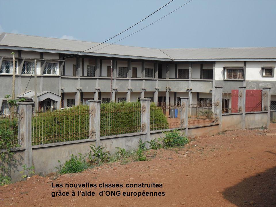 Les nouvelles classes construites grâce à l'aide d'ONG européennes