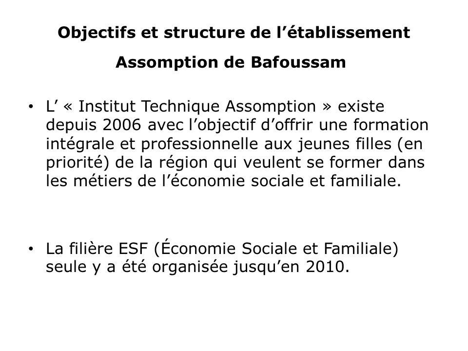 Objectifs et structure de l'établissement Assomption de Bafoussam