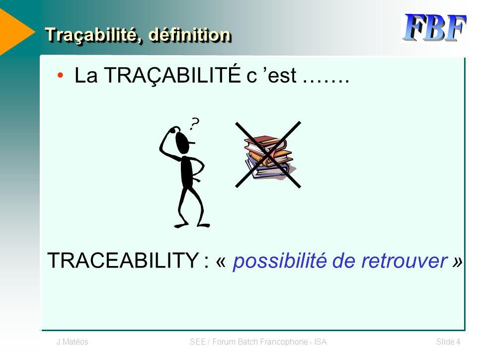 Traçabilité, définition