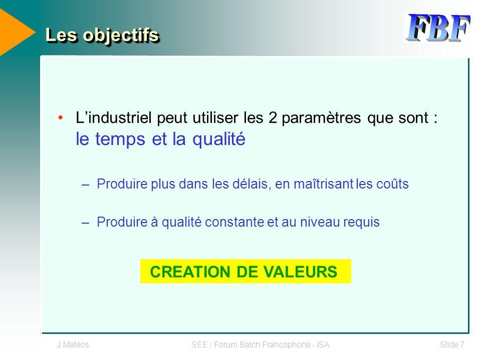 SEE / Forum Batch Francophone - ISA
