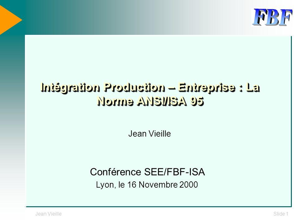 Intégration Production – Entreprise : La Norme ANSI/ISA 95