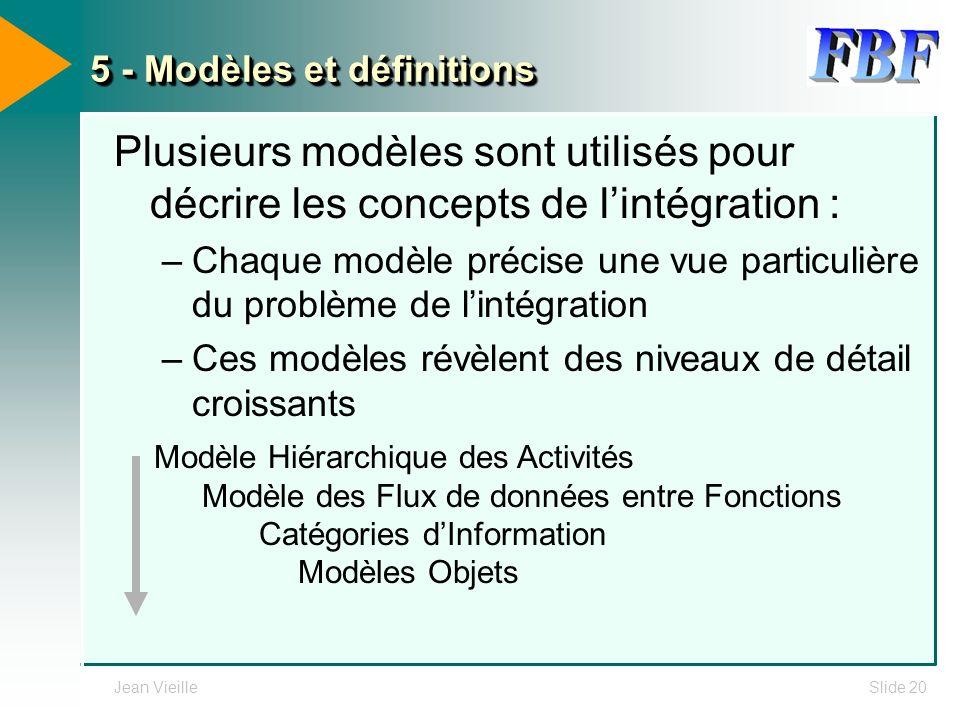 5 - Modèles et définitions