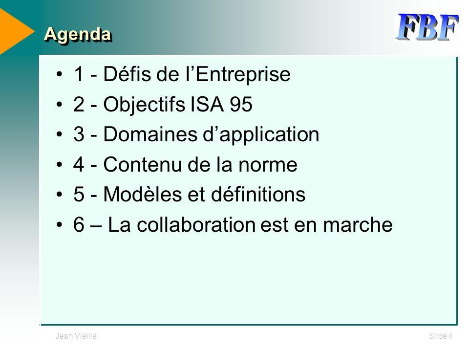 1 - Défis de l'Entreprise 2 - Objectifs ISA 95