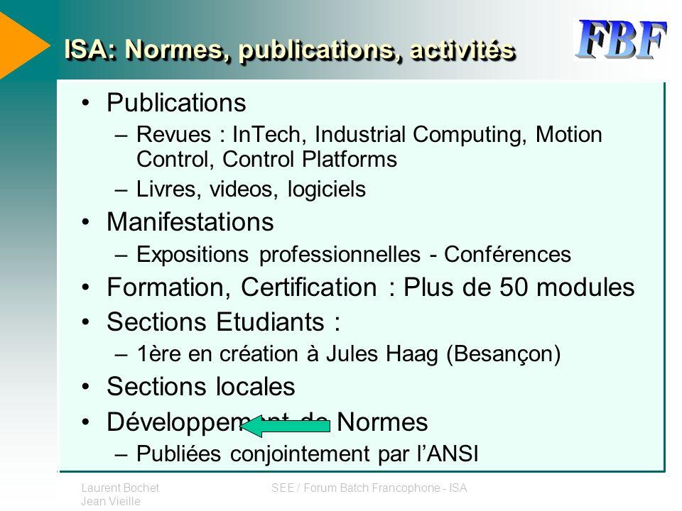 ISA: Normes, publications, activités