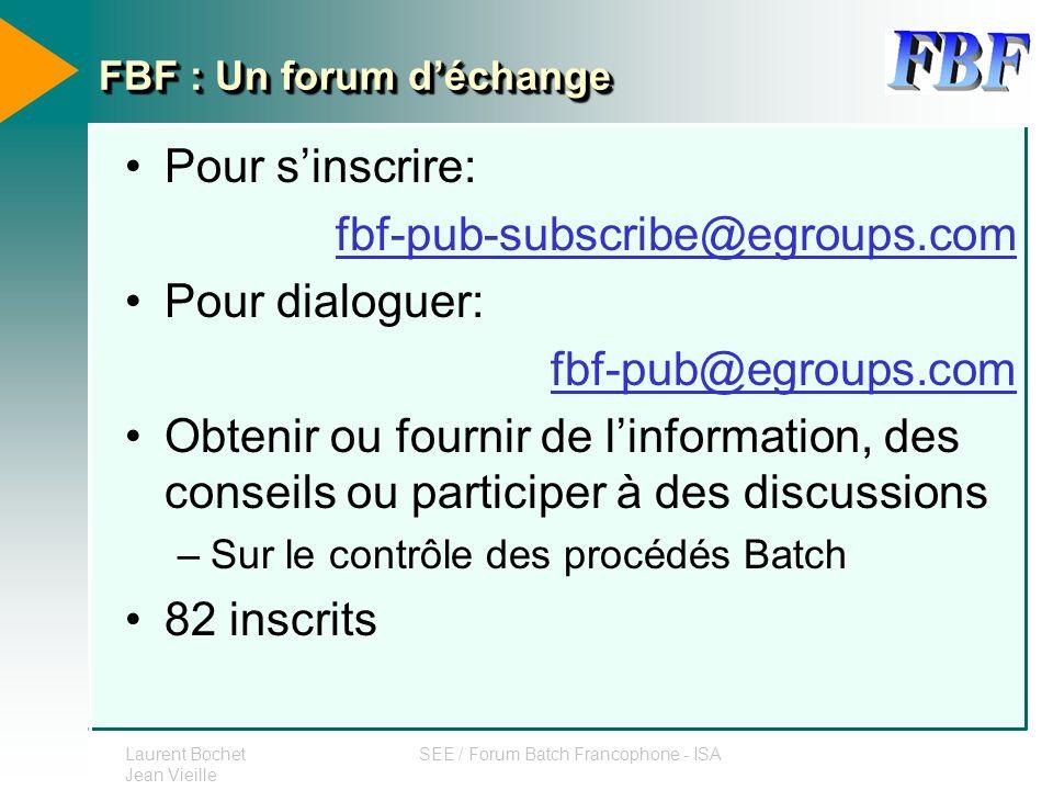 FBF : Un forum d'échange