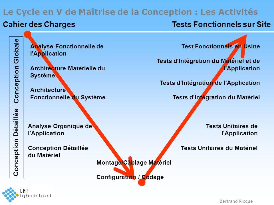 Le Cycle en V de Maîtrise de la Conception : Les Activités