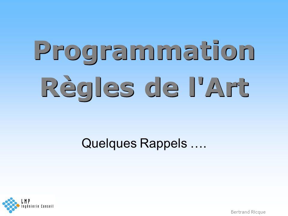 Programmation Règles de l Art