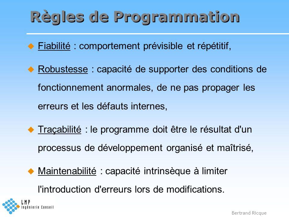 Règles de Programmation