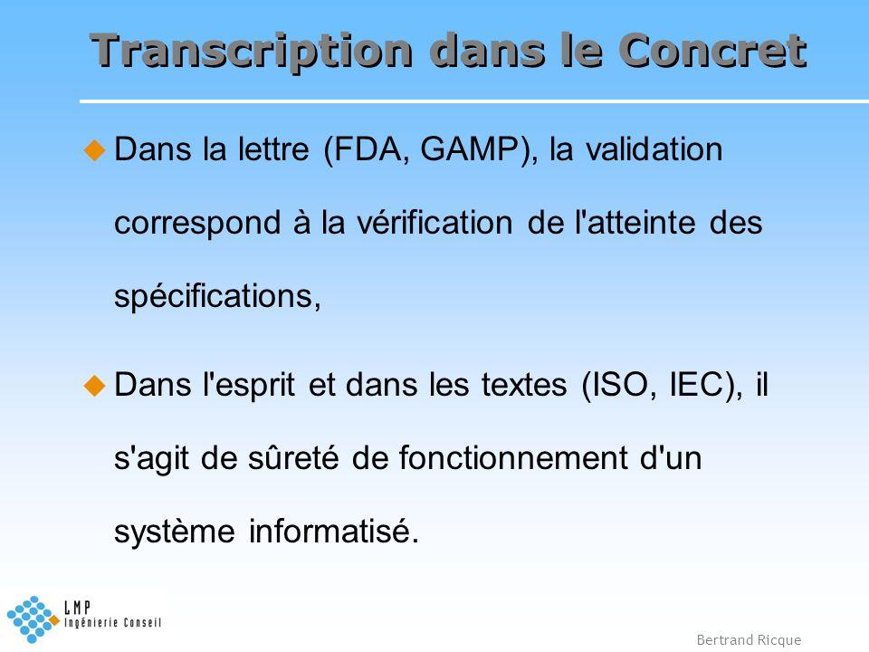Transcription dans le Concret