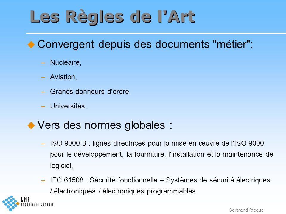 Les Règles de l Art Convergent depuis des documents métier :