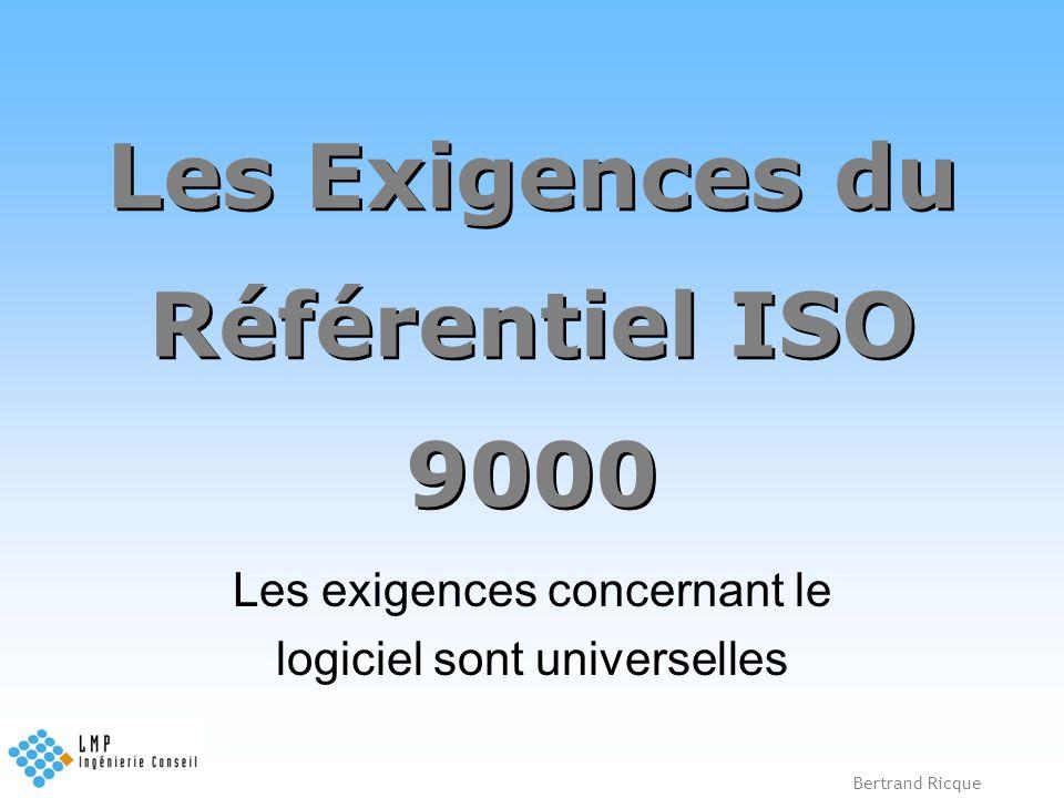 Les Exigences du Référentiel ISO 9000