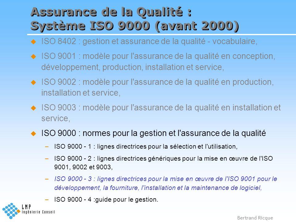 Assurance de la Qualité : Système ISO 9000 (avant 2000)