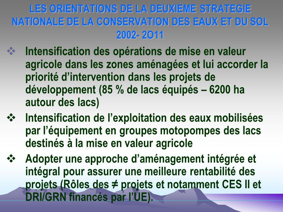 LES ORIENTATIONS DE LA DEUXIEME STRATEGIE NATIONALE DE LA CONSERVATION DES EAUX ET DU SOL 2002- 2O11