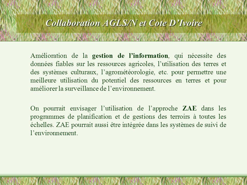 Collaboration AGLS/N et Cote D'Ivoire