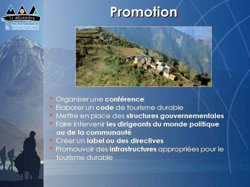 Promotion Organiser une conférence