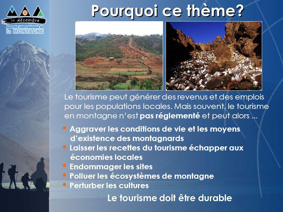 Le tourisme doit être durable