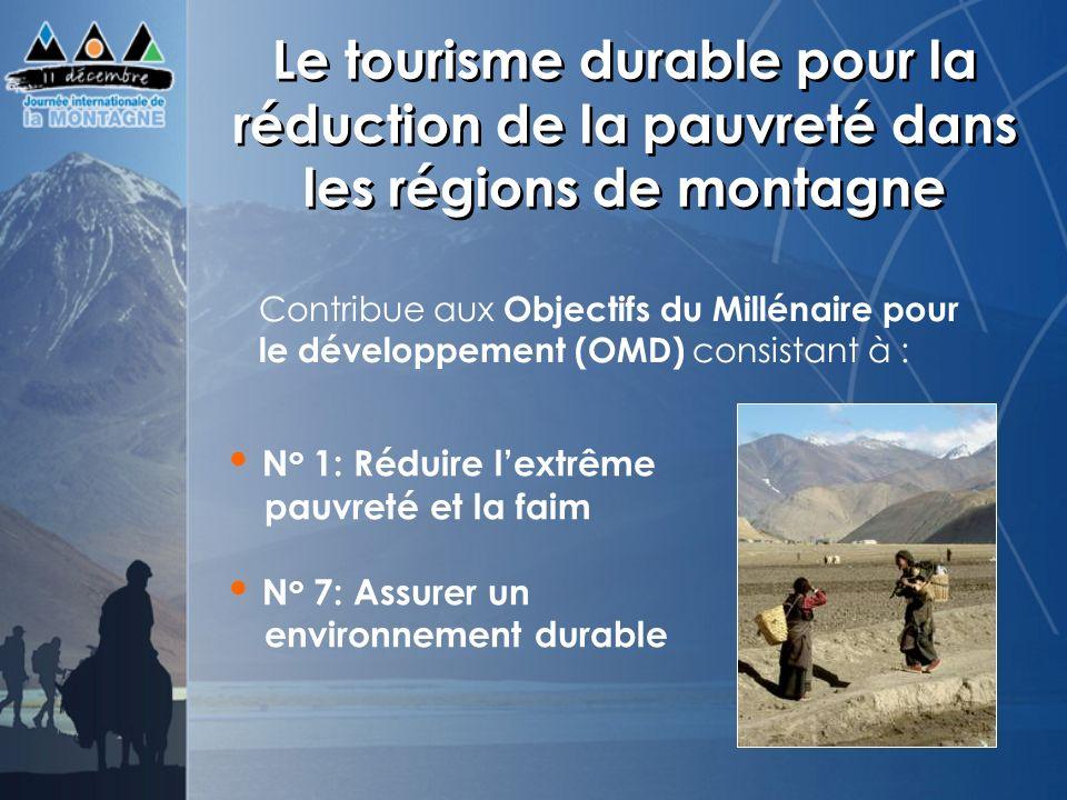 Le tourisme durable pour la réduction de la pauvreté dans les régions de montagne