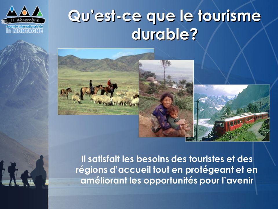Qu'est-ce que le tourisme durable