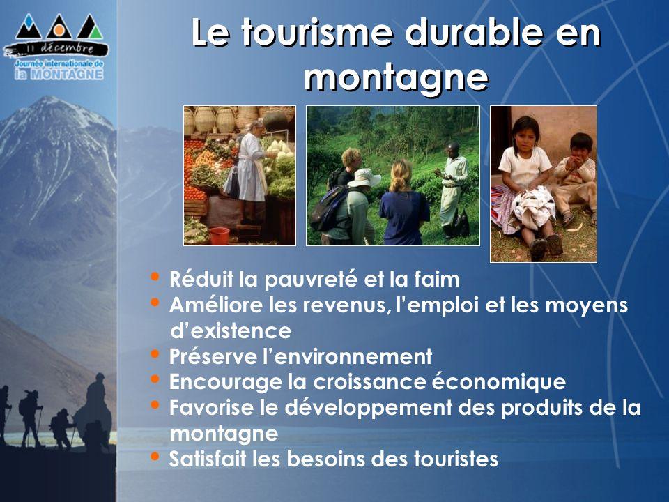 Le tourisme durable en montagne
