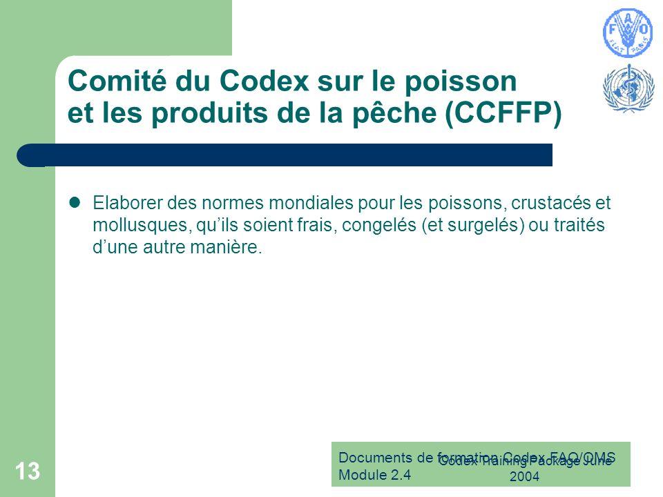 Comité du Codex sur le poisson et les produits de la pêche (CCFFP)