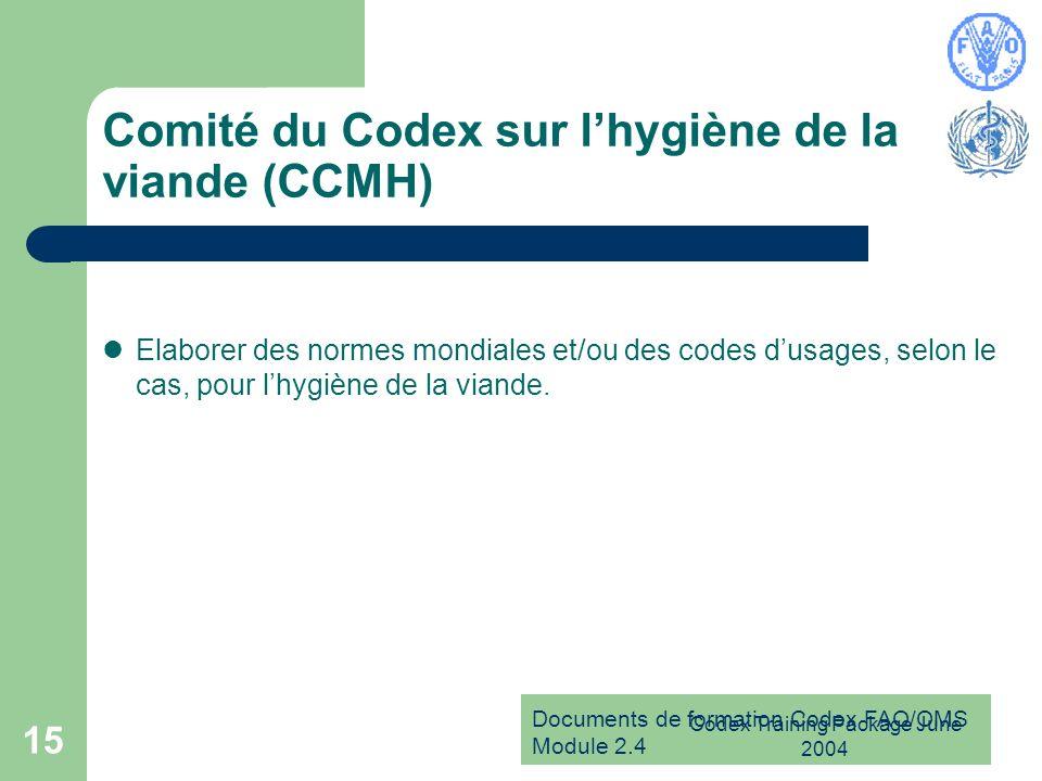 Comité du Codex sur l'hygiène de la viande (CCMH)