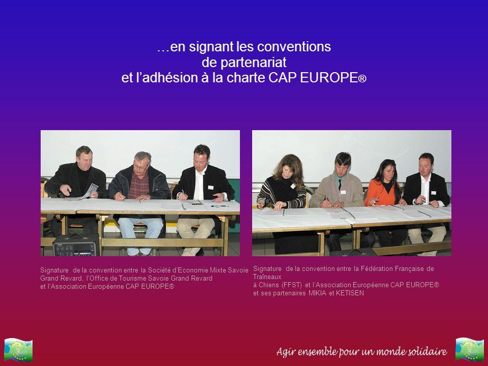 …en signant les conventions de partenariat