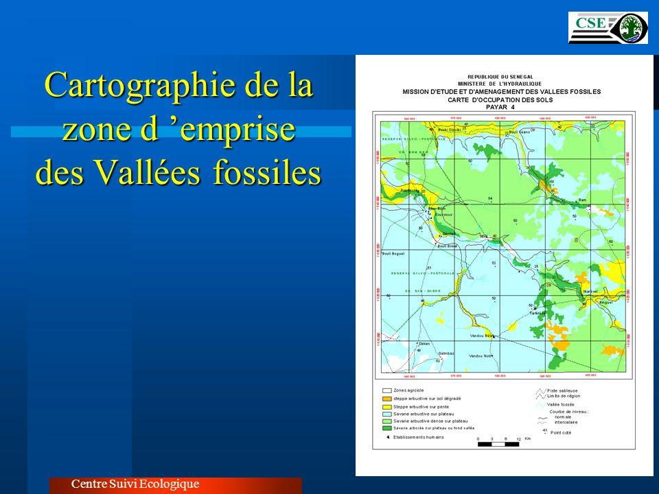 Cartographie de la zone d 'emprise des Vallées fossiles